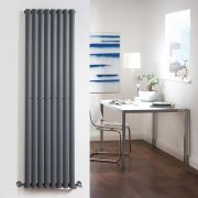 "Revive - Anthracite Vertical Single-Panel Designer Radiator - 63"" x 18.5"""