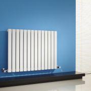 "Sloane - White Horizontal Single Flat-Panel Designer Radiator - 25"" x 32.75"""