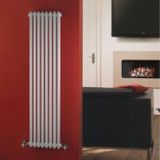 "Regent - White Vertical 2-Column Traditional Cast-Iron Style Radiator - 59"" x 15"""