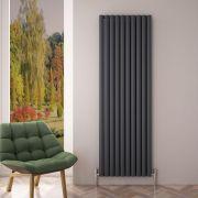 """Revive Air - Anthracite Aluminum Vertical Double-Panel Designer Radiator - 70.75"""" x 23.25"""""""