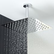 "12"" Square Shower Head with Round Ceiling Arm"