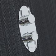 Quest Concealed 1 Outlet Twin Thermostatic Shower Valve (Oval Plate)