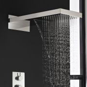 Thermostatic Waterfall Shower System with Slide Rail Kit