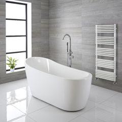 """Modern Acrylic Freestanding Slipper Bath Tub 65"""""""