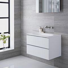 Randwick - 30'' White Wall-Mount Bathroom Vanity