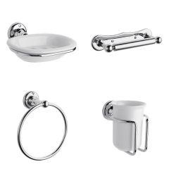 Traditional Chrome Bathroom Accessory Set