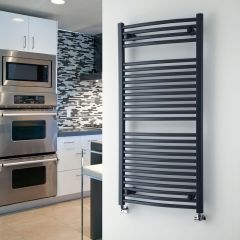 "Loa - Hydronic Anthracite Heated Towel Warmer - 47.25"" x 23.5"""