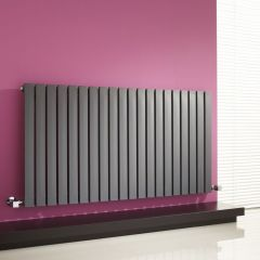 "Sloane - Anthracite Horizontal Single Flat-Panel Designer Radiator - 25"" x 46.5"""