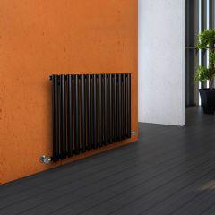 "Revive - Black Horizontal Single-Panel Designer Radiator - 25"" x 32.75"""