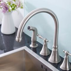 Widespread Kitchen Faucet with Side Spray