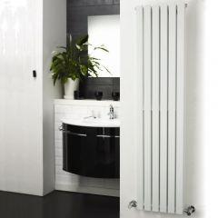 """Sloane - White Vertical Double Flat-Panel Designer Radiator - 63"""" x 14"""""""