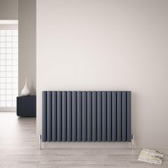"Revive Air - Anthracite Aluminum Horizontal Double-Panel Designer Radiator - 23.5"" x 42.25"""