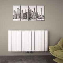 "Aurora - White Aluminum Horizontal Designer Radiator - 23.5"" x 44.75"""