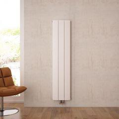 """Aurora - White Aluminum Vertical Designer Radiator - 63"""" x 11"""""""