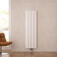 """Aurora - White Aluminum Vertical Designer Radiator - 63"""" x 14.75"""""""