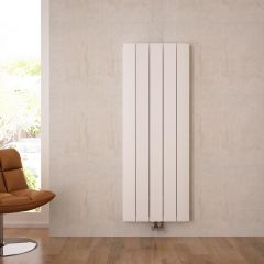 """Aurora - White Aluminum Vertical Designer Radiator - 63"""" x 18.5"""""""