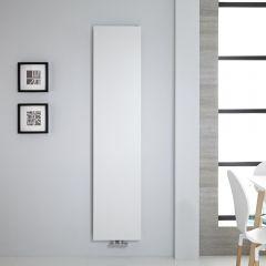 "Vivara - White Vertical Flat-Panel Designer Radiator - 70.75"" x 15.75"""