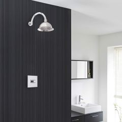 """Traditional Concealed Shower System with 8"""" Rose Shower Head"""