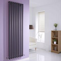 "Edifice - Anthracite Vertical Single-Panel Designer Radiator - 70"" x 22"""