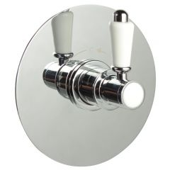 "1/2"" Sequential Valve, Round Plate & Traditional Lever Handle"