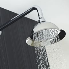 """8"""" Shower Rose with Wall Arm"""