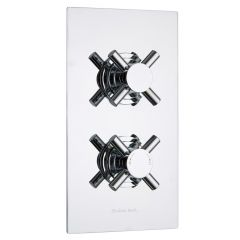 Kristal Concealed 2 Outlet Twin with Diverter Thermostatic Shower Valve