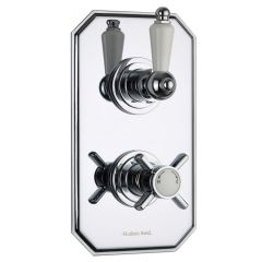 Beaumont Concealed 2 Outlet Twin with Diverter Thermostatic Shower Valve (Traditional Plate)