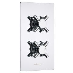 Kristal Concealed 2 Outlet Twin with Diverter Thermostatic Shower Valve (Square Flange)