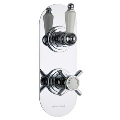 Beaumont Concealed 1 Outlet Twin Thermostatic Shower Valve (Racetrack Plate)