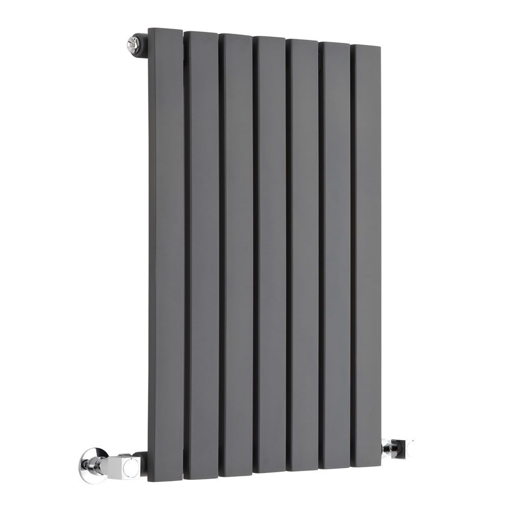 "Sloane - Anthracite Horizontal Single Flat-Panel Designer Radiator - 25"" x 16.5"""