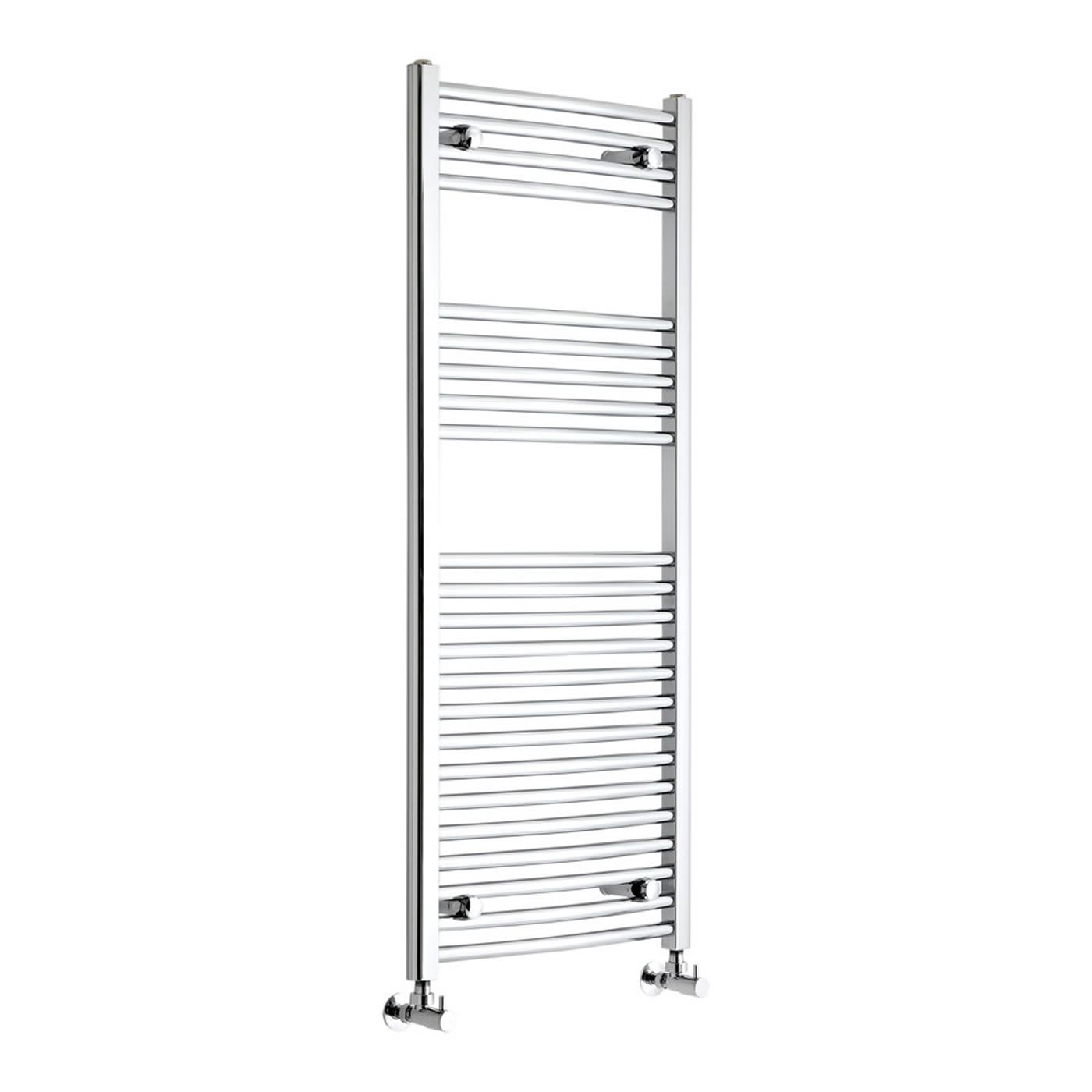 "Etna - Hydronic Chrome Heated Towel Warmer - 47.25"" x 19.75"""