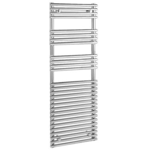 "Ischia - Hydronic Chrome Heated Towel Warmer - 65"" x 17.75"""