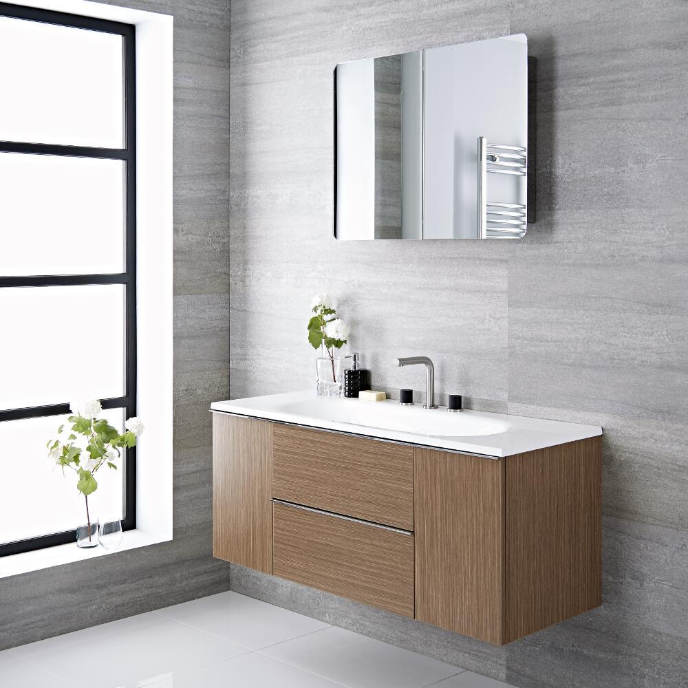 Randwick - 47'' Oak Wall-Mount Bathroom Vanity