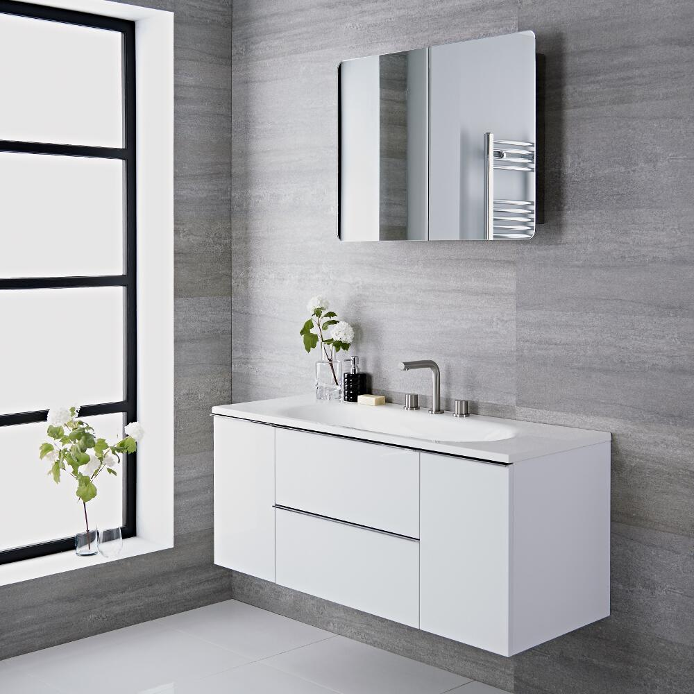 Randwick - 47'' White Wall-Mount Bathroom Vanity