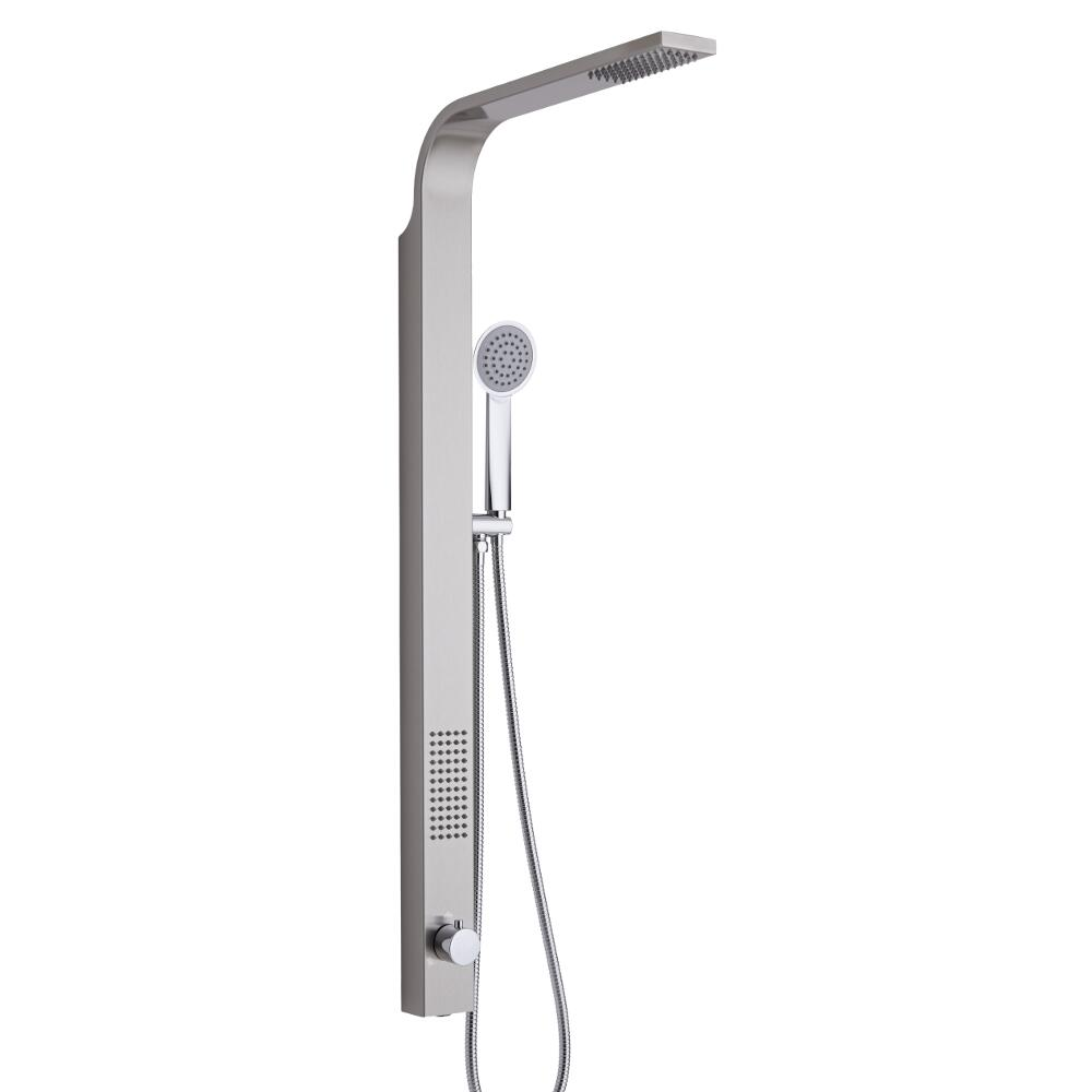 Harding Stainless Steel Rigid Shower Kit, Top Inlet Brushed Finish