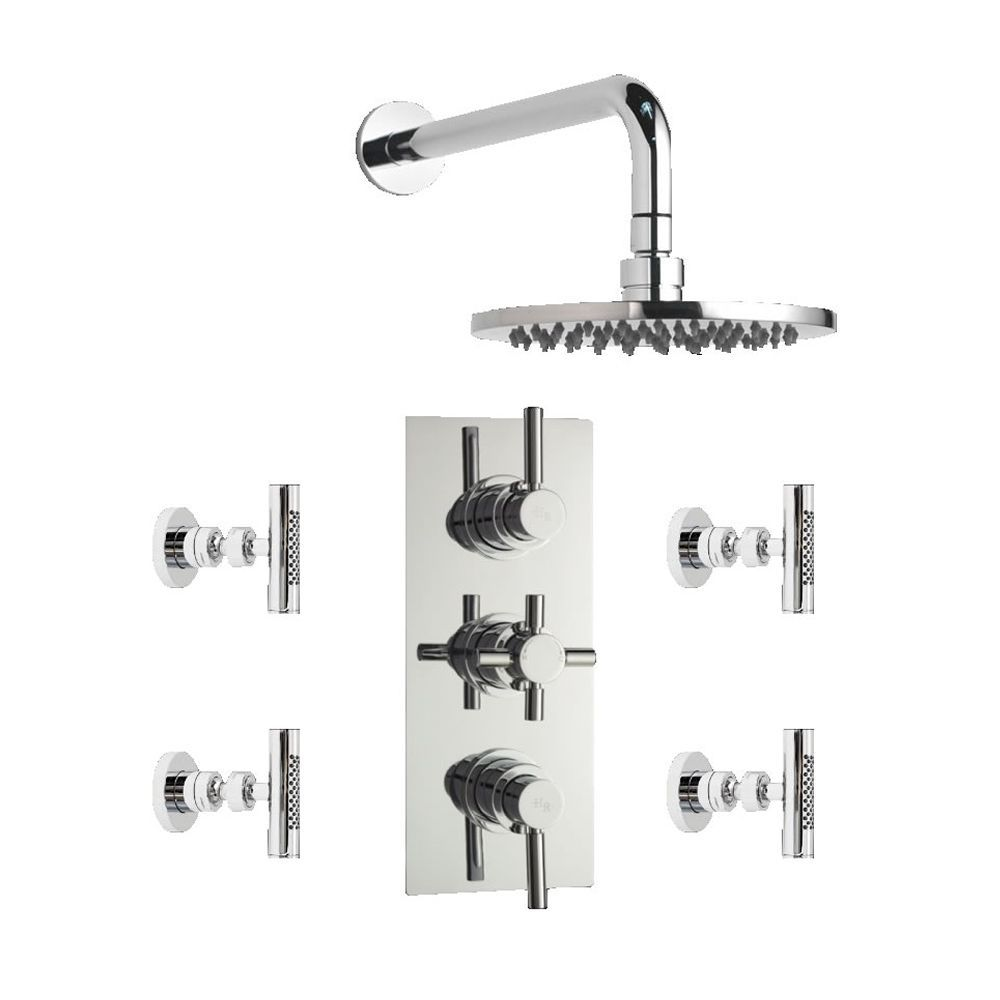 Tec Concealed Thermostatic Shower Valve With Round Shower