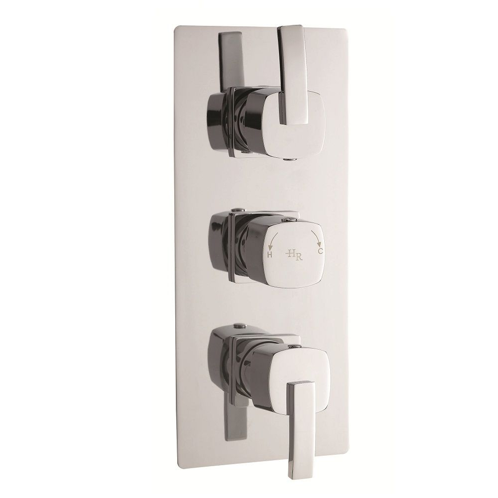 Arcade Triple Concealed Thermostatic Shower Valve with Built-in Diverter 3 Outlet Options