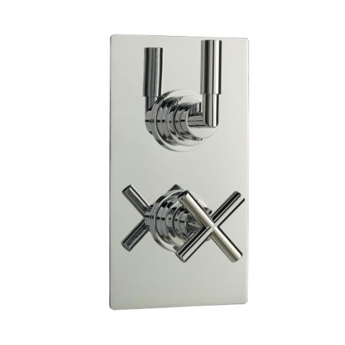 Helix Concealed Thermostatic Twin Shower Faucet Valve 1 Outlet Option