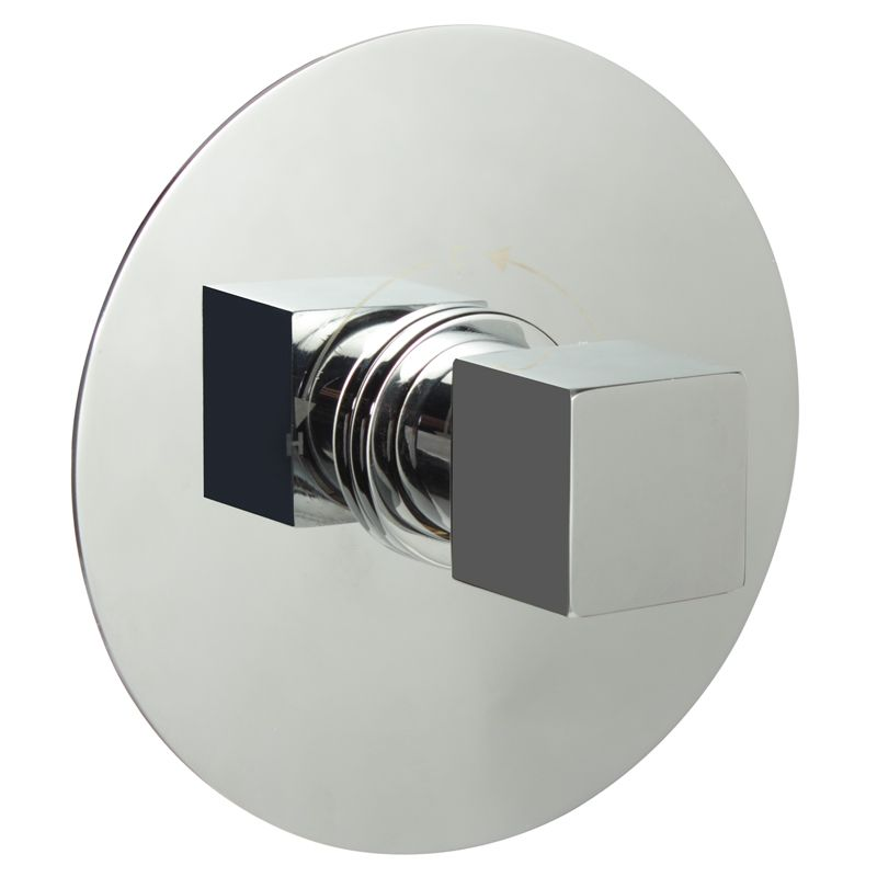 "1/2"" Sequential Valve, Round Plate & Modern Square Handle"