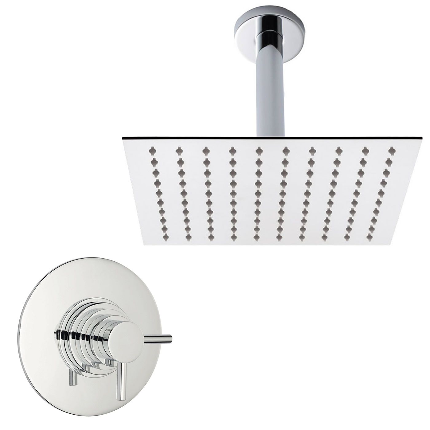 Concealed Shower System with Square Thin Head, Sequential Valve