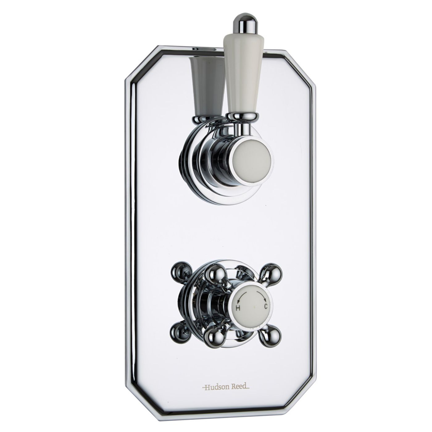 Traditional Concealed 1 Outlet Twin Thermostatic Shower Valve (Traditional Plate)