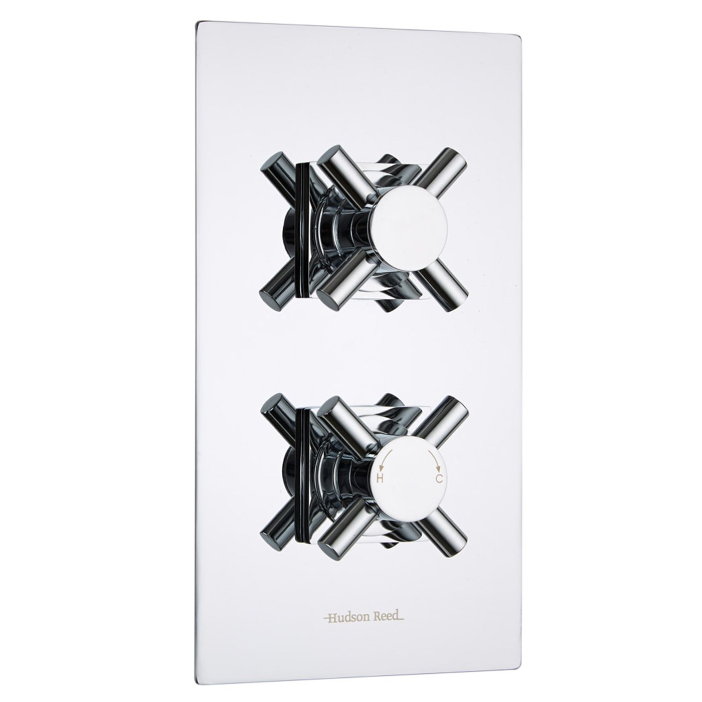 Kristal Concealed 1 Outlet Twin Thermostatic Shower Valve (Square Flange)