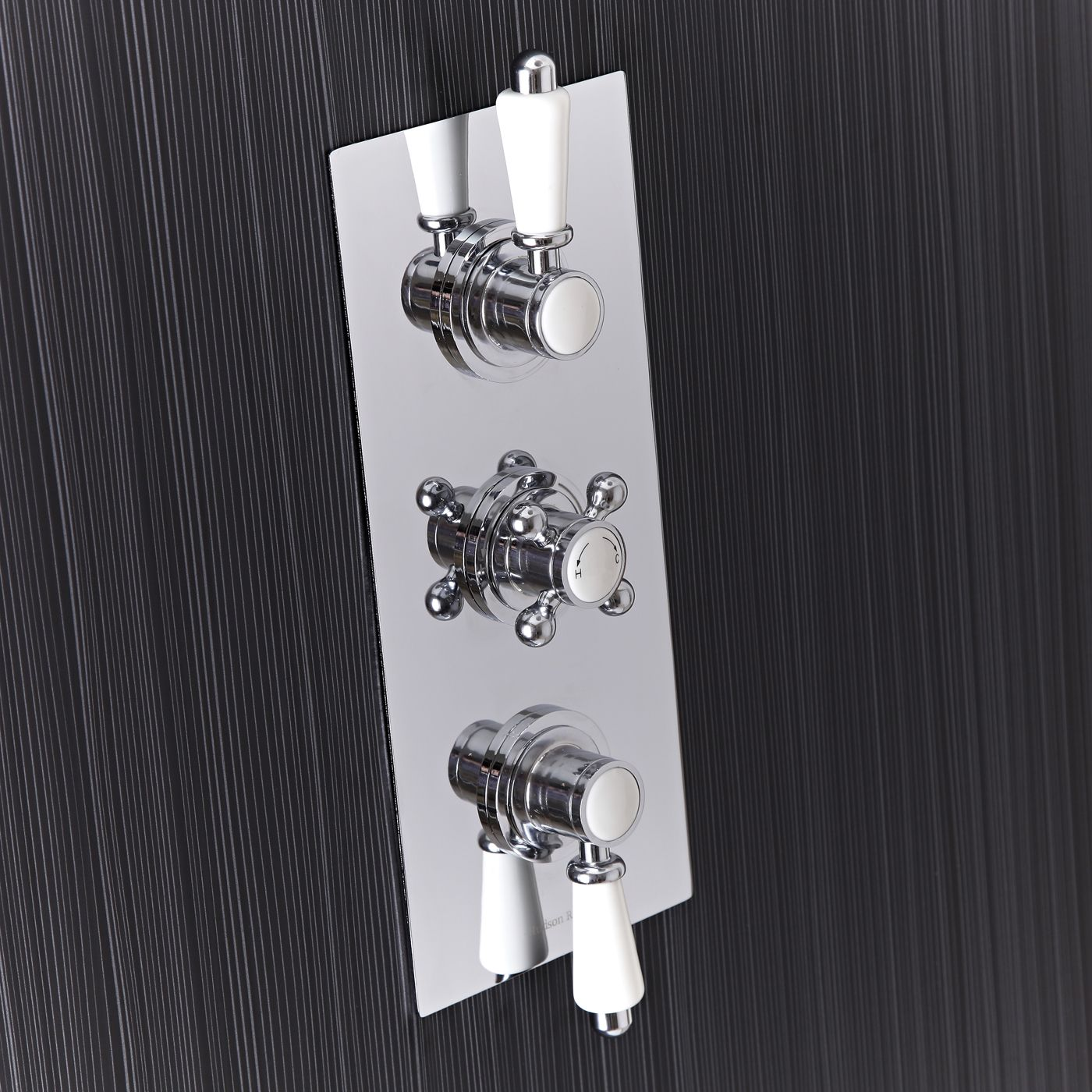 Traditional Concealed 3 Outlet Triple with Diverter Thermostatic Shower Valve
