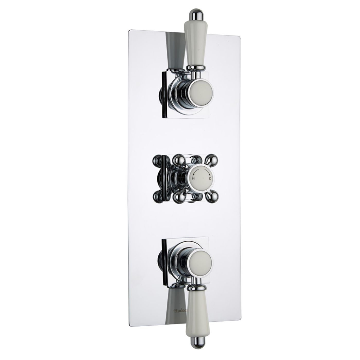 Traditional Concealed 3 Outlet Triple with Diverter Thermostatic Shower Valve (Square Flange)