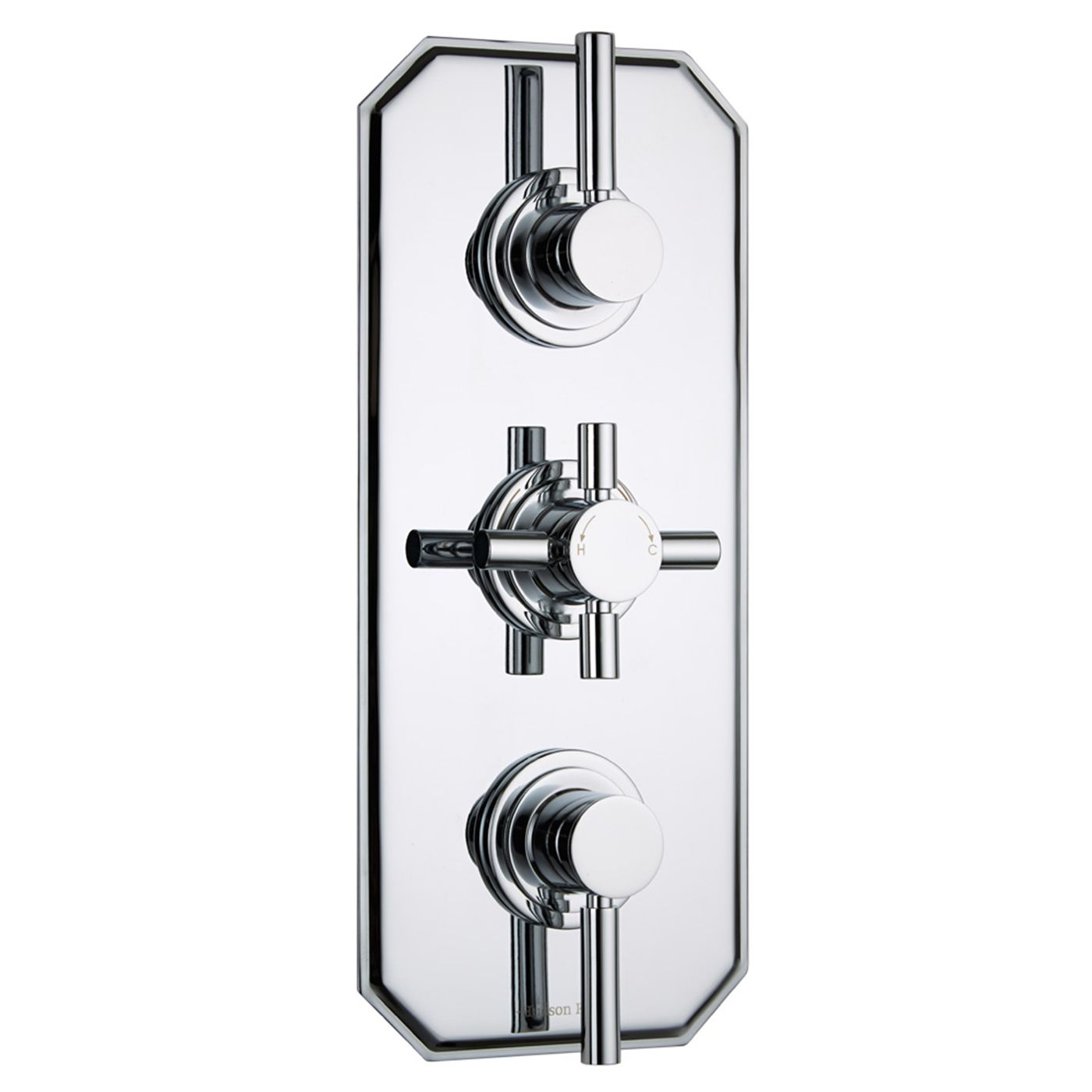 Tec Concealed 3 Outlet Triple with Diverter Thermostatic Shower Valve (Traditional Plate)
