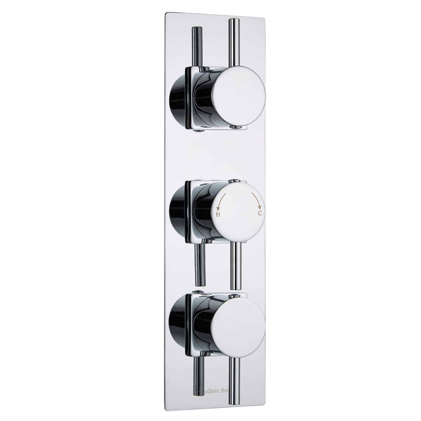 Quest Concealed 3 Outlet Triple with Diverter Thermostatic Shower Valve (Slim Trim Plate)