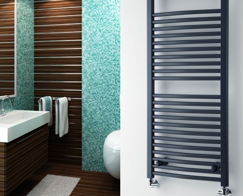 image of a hydronic towel warmer