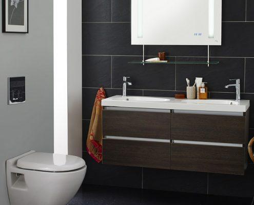 Image of a bathroom basin and a bathroom unit