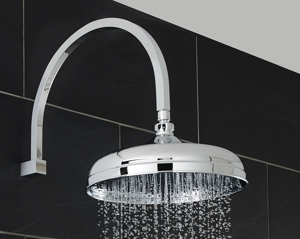 modern round chrome shower head