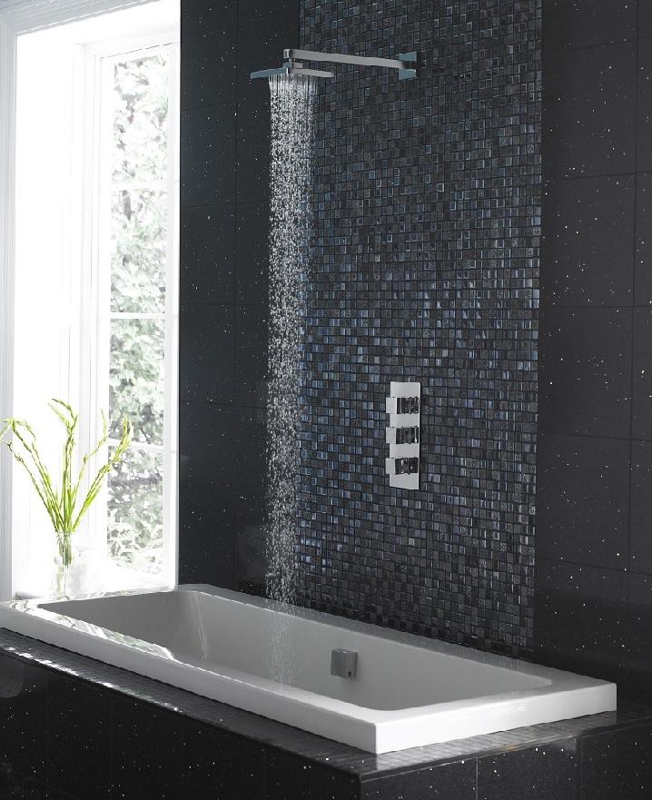 shower head valve and bathtub